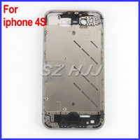 Wholesale Iphone 4s Middle Frame Plate - Silver Bezel Middle Frame Middle Chassis Housing Plate Board for iPhone 4S 4GS