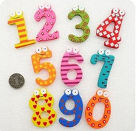 Wholesale Baby Girl Stickers Free Shipping - Free shipping Baby Educational Toys Wooden Fridge Magnet Sticker Refrigerator Stickers Hotsale