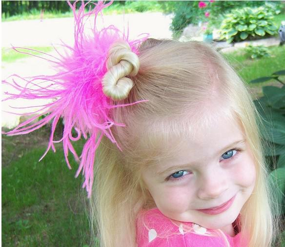 free shipping 330pcs mix color 3'' fashion curl ostrich puff feather bows baby feather hair clips
