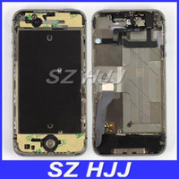 Wholesale Iphone 4s Midframe Assembly - Silver Mid Middle Frame Midframe Chassis Housing Assembly For iPhone 4S 4GS