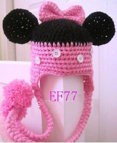 f3c634eabe0 2019 2013 NEW CUSTOM MADE Crochet Animal Baby Hats DE Minnie Mouse ...