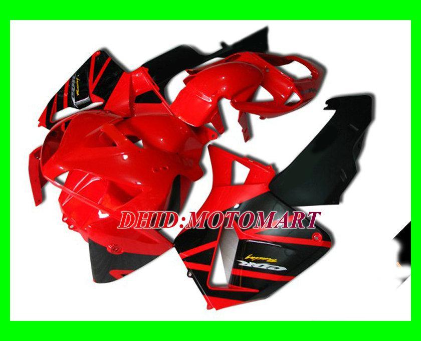 Klassieke Rood Zwarte Injectie Mold Fairing Kit voor Honda CBR600RR 05 06 CBR 600RR 2005 2006 CBR 600F5 Verklei Set + 7Gifts