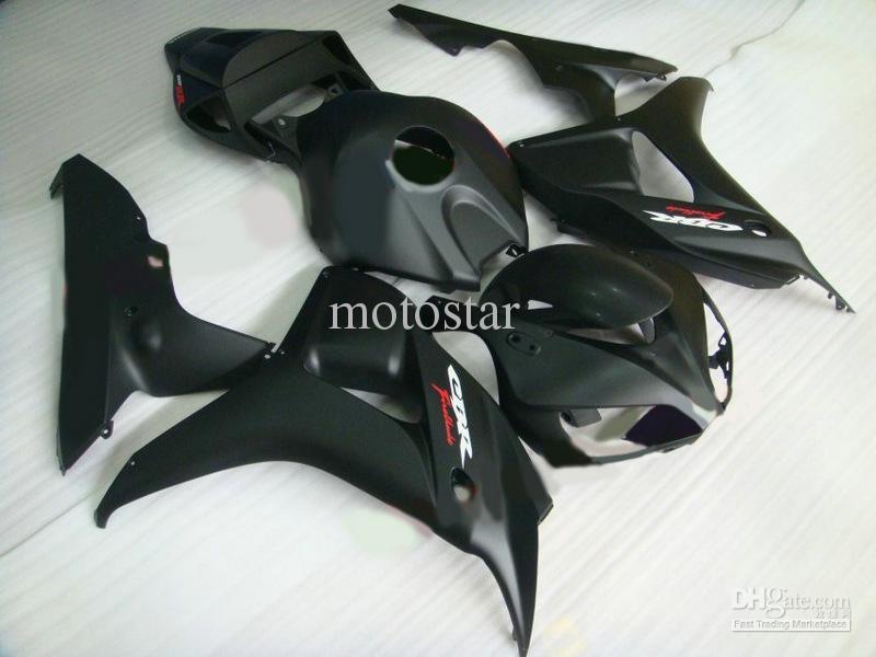kit de carenado negro plano mate para HONDA CBR1000RR 1000RR 06 07 2006 2007 kit de carenado de reparación de cuerpo