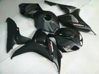 carenados negro mate al por mayor-kit de carenado negro plano mate para HONDA CBR1000RR 1000RR 06 07 2006 2007 kit de carenado de reparación de cuerpo