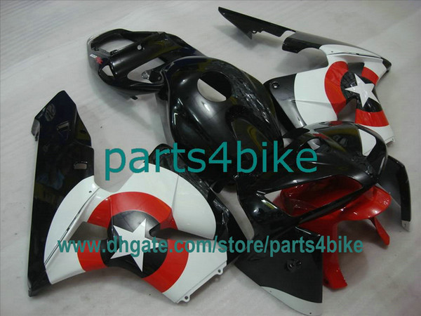 Fit for CBR600RR 2005 2006 Captain America Black Red ABS Injection Fairing Kit