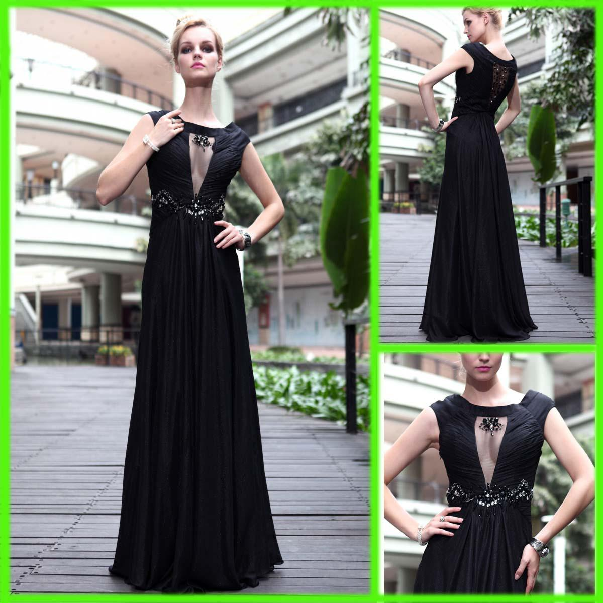 2013 Elegant Long Evening Dresses Prom Dresses Celebrity Chiffon ...