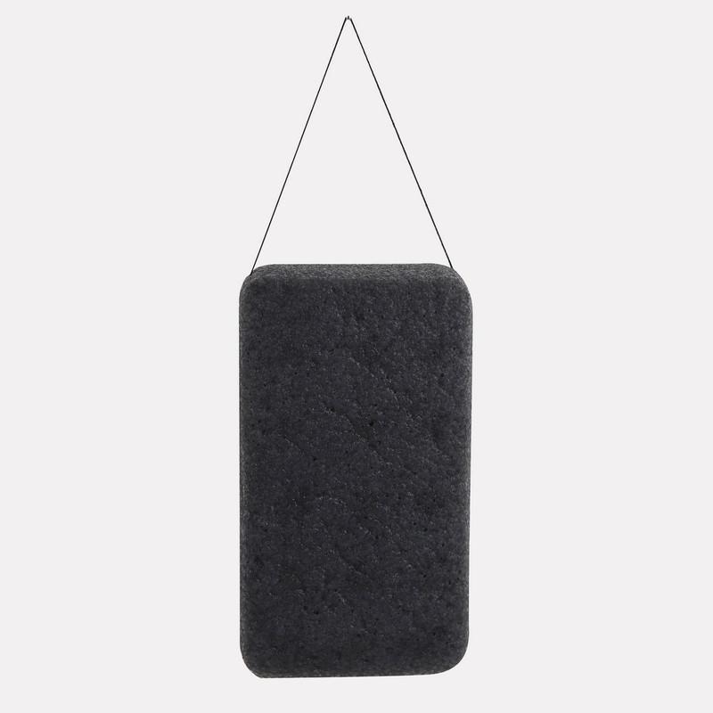 / 4 색 직사각형 100 % 천연 목탄 곤약 바디 스펀지 세안 퍼프