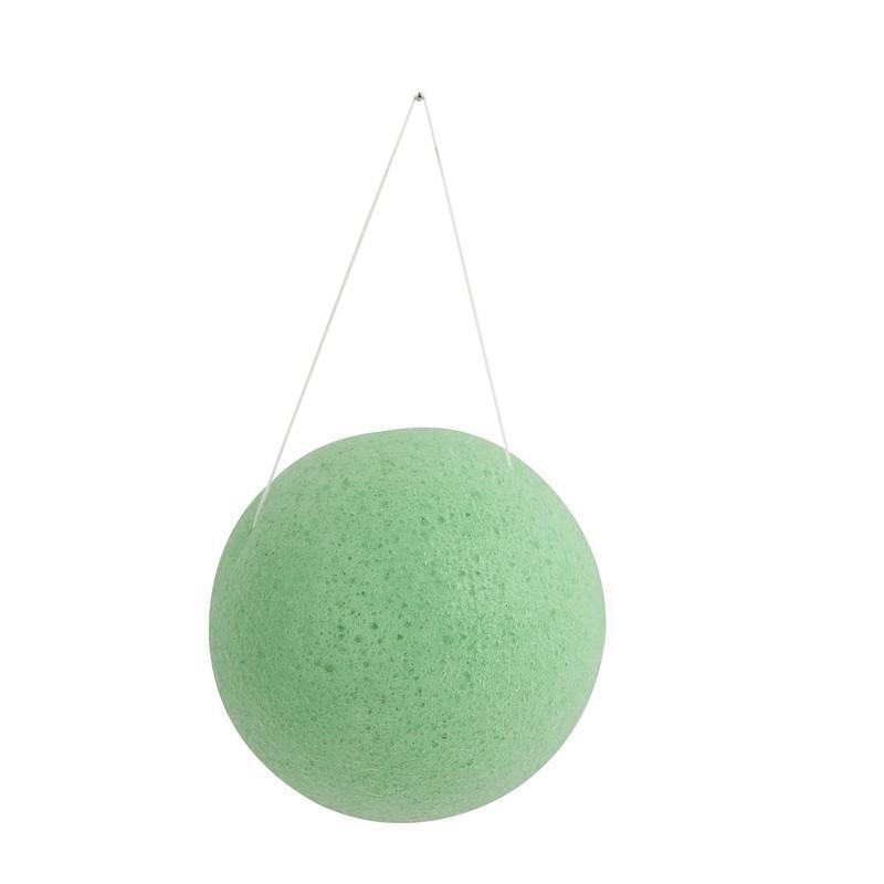 / 4 couleurs thé vert 100% naturel thé vert Konjac éponge visage lavage nettoyant bouffée