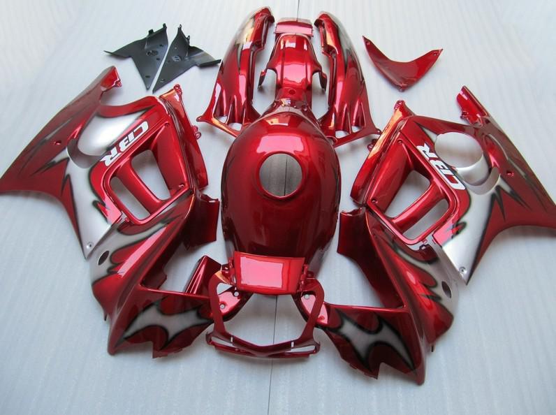 Gratis Anpassa Red Grey ABS Fairing Kit för Honda CBR600F3 95 96 CBR600 F3 1995 1996 CBR 600 F3 95 96