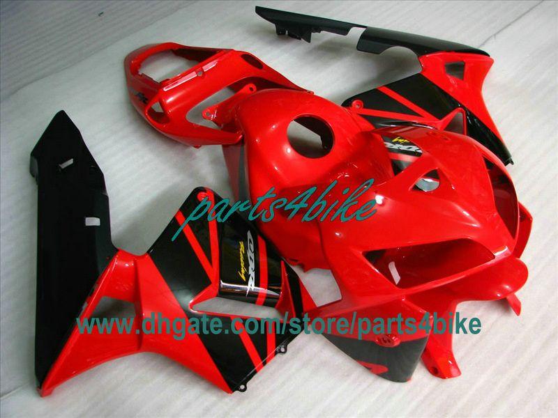 Röd svart OEM-injektion Bodywork Kit för 2003 2004 Honda CBR600RR CBR 600RR Motorcykeldelar CBR600 F5 03 04 FAININGS TY3