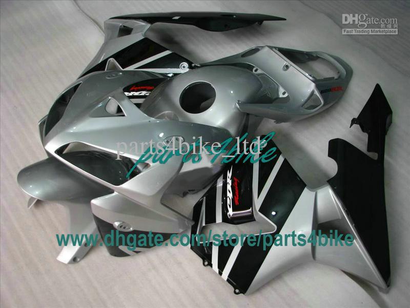Hoogwaardige zilveren zwarte injectie kit kit voor 2003 2004 Honda CBR600RR CBR 600RR CBR600 F5 03 04 Body Work Backings TY1