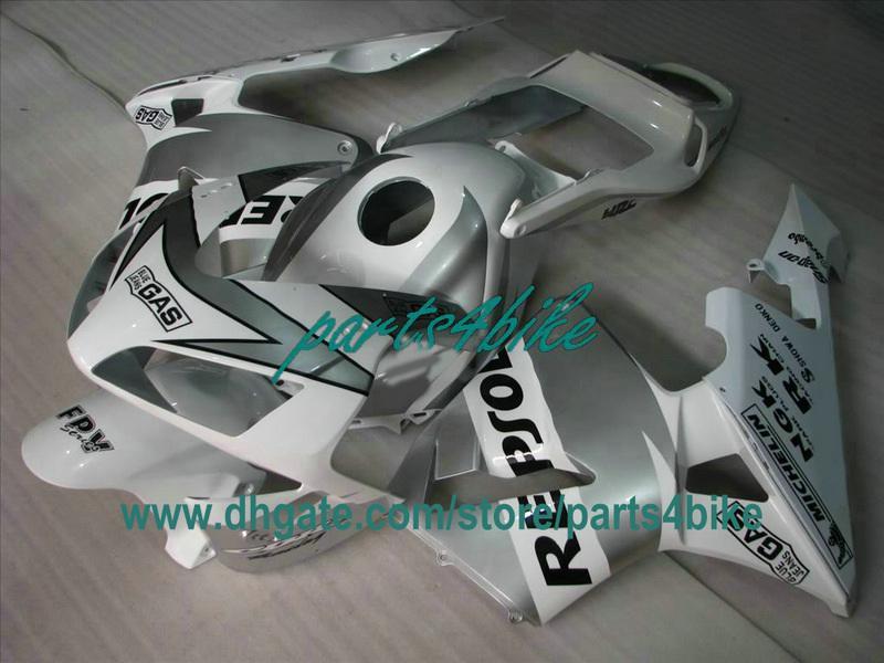 Kit de carénage REPSOL argenté pour 2003 Honda CBR600RR 2003 CBR 600RR CBR600 F5 03 04