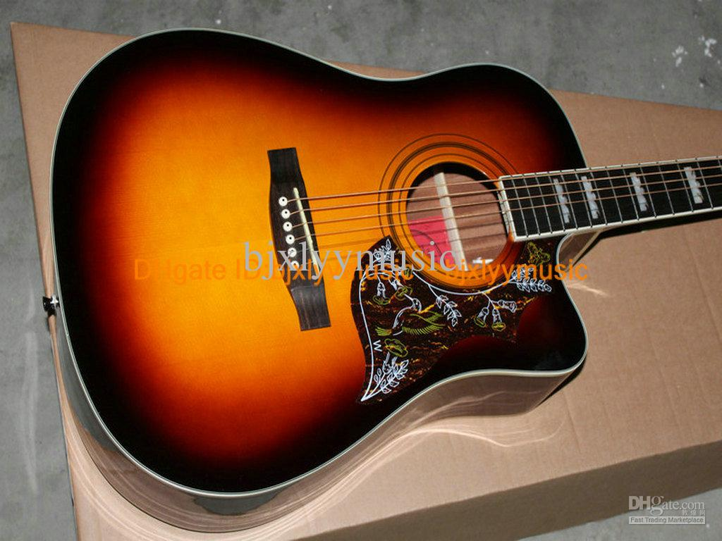 New Arrival Honey Burst Acoustic Guitar Best Musical Instruments Buy
