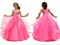 Wholesale Cheapest Girls Dresses - 2015 Cheapest Girls Pageant Dresses Free Frozen Gift Custom made shining lovely girl's prom dress floor length pageant Gowns DM-507