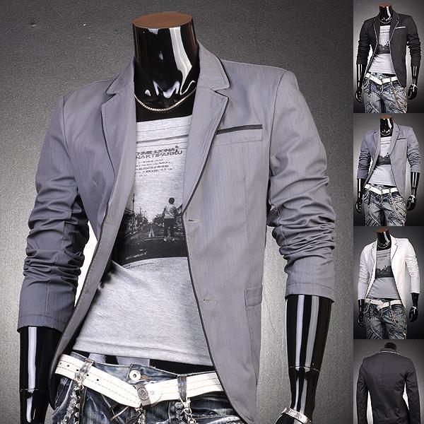 Mens Stylish Casual Jacket Coat Shirts Blazer Black/Gray/Purple New S M L  Xl 8922 Cheap Mens Jackets And Coats Fashionable Mens Jackets From  Jeansianshop, ...