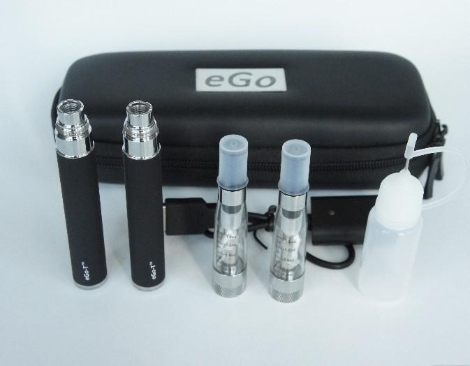 2013 900mah Auto EGO-T CE6 clearomizer electronic cigarette-eGo Portable Leather Case