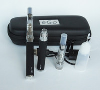 Wholesale Ego T Auto - HOT Auto EGO-T CE6 clearomizer 1100mah electronic cigarette-eGo Portable Leather Case