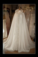 Wholesale winter white hooded cape resale online - Good Price White Winter Gorgeous Hooded Wedding Dresses For Bridal Cape WDC002
