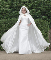 Wholesale apricot wedding dresses for sale - 2018 New Arrival Customer Made White Winter Gorgeous Russia Wedding Dresses For Bridal Cape Wraps WDC007