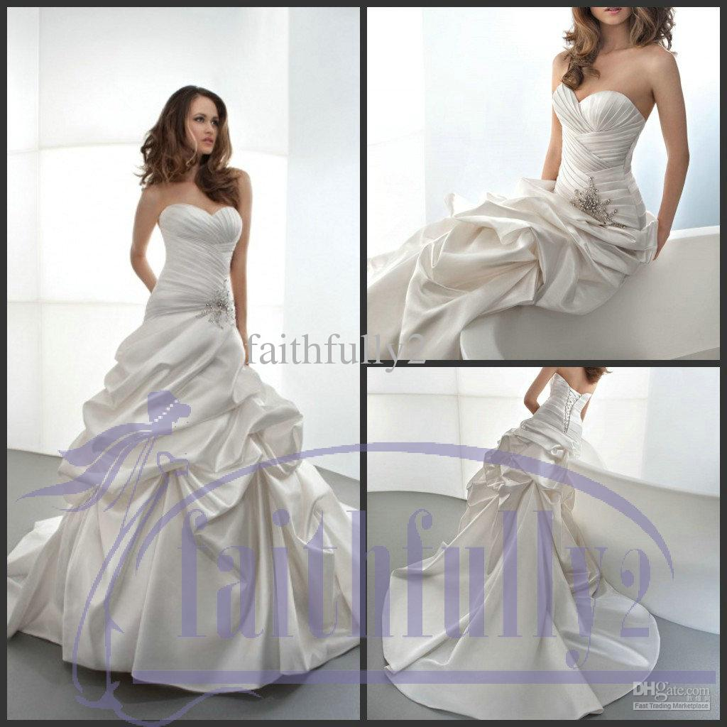 Wedding Dress With Ruching
