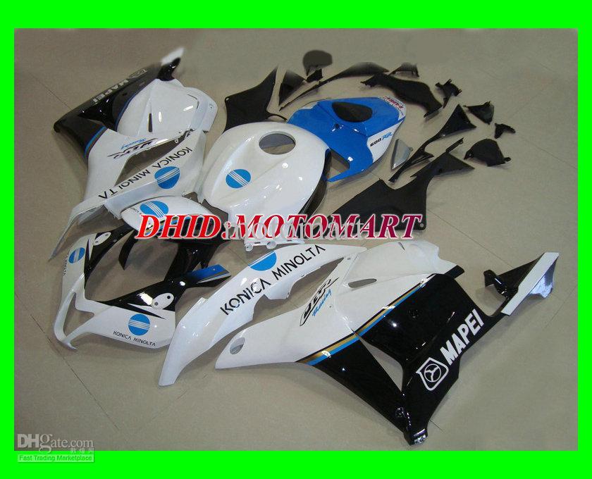 ABS White Injection Mold Fairing Kit för Honda CBR600RR 09 10 CBR 600RR 2009 2010 CBR600RR F5 Fairings Set + 7Gifts