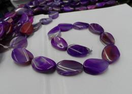 encantos de ópalo azul al por mayor Rebajas Accesorios de bricolaje para joyería, ágata de color púrpura natural semiacabado 20 mm * 30 mm, 1 unidad al por mayor