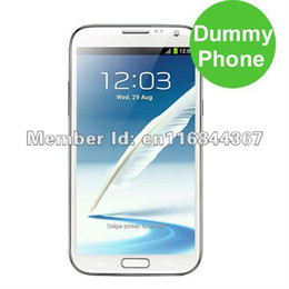 Wholesale Mobile Phone Dummies - Dummy Phone for Display Note 2 Mobile N7100 Phone Dummy Toy Phone White Free Shipping