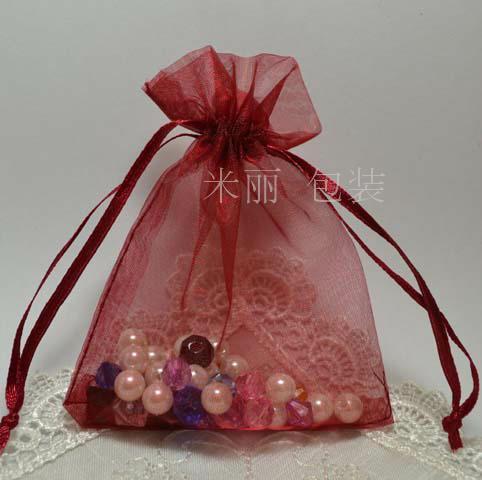 المختلطة مستطيل اورجانزا الزفاف هدية الحقائب حقائب 12x9cm