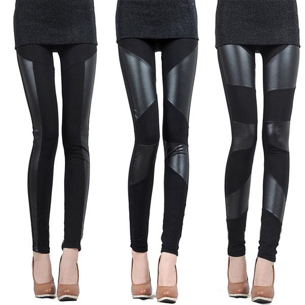 5bbd6361b2f5c Leggings With Leather Panels | Tulips Clothing