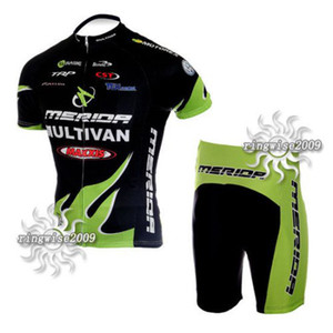 Wholesale SHORT SLEEVE CYCLING WEAR CYCLING JERSEY WITH SHORT MERIDA GREEN SET SIZE XS XL M046