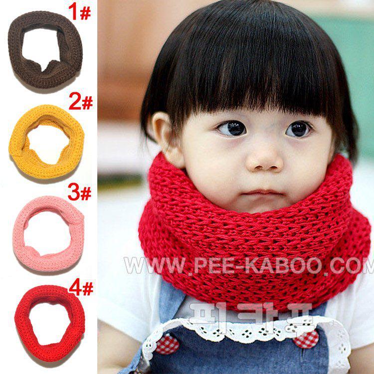 Écharpe pour enfants, écharpe double de couleur unie garçons filles bonbons, colliers bébé 4 couleurs, /
