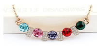 Wholesale Love Language Crystal - Austria crystal Necklase Fashion wedding necklace-Love love language