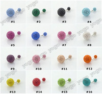 Atacado 316L Surgical Steel 10PCS 16 Gauge Crystal Disco Bolas Belly Umvel Um Anéis Piercings Corporal, Belly Button Anéis Para Mulheres