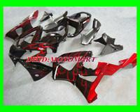 honda cbr 929 verkleidungen rot großhandel-ABS rote Flammen schwarz Verkleidungskit für HONDA CBR900RR 929 00 01 CBR 900RR 2000 2001 Motorradverkleidungen CBR 900 RR + 7gifts