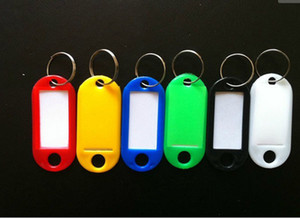 Wholesale 500pieces Plastic Key ID Labels Tags with Key Ring Split Rings
