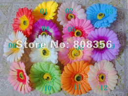 "Wholesale Blue Gerbera - 70p Dia. 10cm 3.93"" Artificial Silk Gerbera Jamesonii African Daisy Flower Head Wedding Christmas Party"