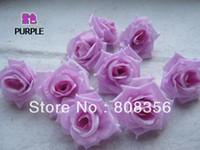 seide lila pfingstrosen großhandel-100 stücke Lila 8 cm Seide Künstliche Simulation Blume Kopf Pfingstrose Rose Hochzeit Weihnachtsfeier Dekorationen Diy Schmuck