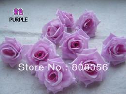 Wholesale Silk Purple Rose Heads - 100pcs Purple 8cm Silk Artificial Simulation Flower Head Peony Rose Wedding Christmas Party Decorations Diy Jewelry