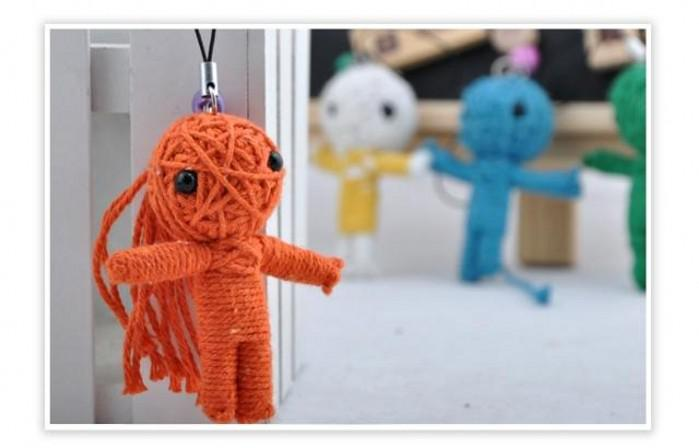 100pcs lots Toys,Voodoo Doll,cell phone key chain,a variety of  styles,colors,Voodoo straps Doll