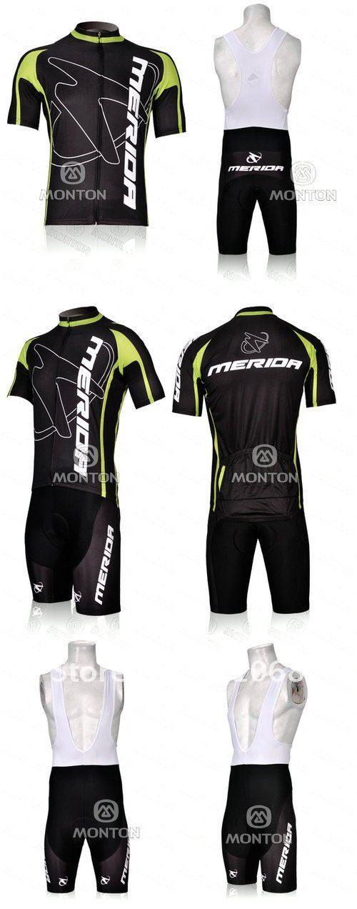 2012 MERIDA BLACK CYCLING 착용 소매가 짧은 소매 사이클링 + BIB 짧은 설정 사이즈 : XS-4XL M07