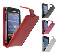 Wholesale Doormoon Case - DOORMOON Full protection pu leather case for Samsung Galaxy SL i9003, with retail package