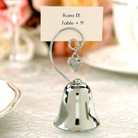 Wholesale Silver Bells Wedding Favors - Silver Bell Place Card Holder Romantic Wedding Favors Hot