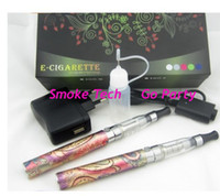 Wholesale Ego Embossed - 900mAh Embossed Colorfuled eGo Q CE4 clear atomizer kit free shipping world wide
