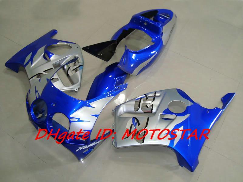 Blå silver karosseri för Honda CBR250RR MC19 1987 1989 CBR 250 RR 87 88 89 CBR250 Fairing Kit
