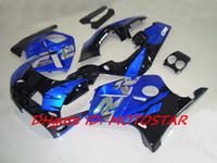 Wholesale Honda Mc19 Fairing - blue black bodywork FOR Honda CBR250RR MC19 1987 1989 CBR 250RR 87 88 89 CBR250 fairing kit