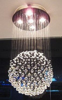 Wholesale Contemporary Crystal Chandeliers Sale - holiday sales contemporary crystal pendant chandeliers LED light fixtures AC110-240V home decoration crystal lighting free shipping