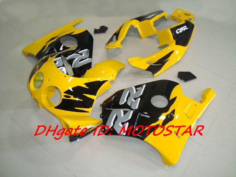 H22 gelb verkleidungen kit für honda cbr250rr mc22 1991-1998 cbr 250rr cbr250 91 92 93 94 karosserie