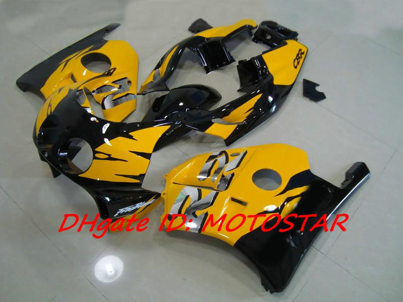 yellow black fairings kit For Honda CBR250RR MC22 1991-1998 CBR 250RR CBR250 91-98 bodywork