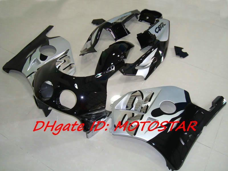 Black Silver RR fairing kit For Honda CBR250RR MC22 91-98 1991-1998 CBR 250RR CBR250 91 92 93 94