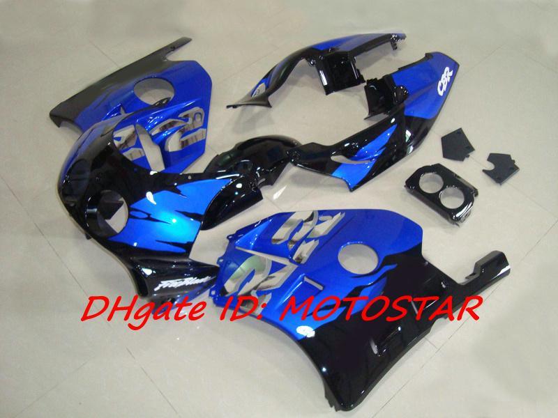 혼다 CBR250RR MC22 용 고급 블루 페어링 키트 1991-1998 CBR 250RR CBR250 91 92 93 94 차체